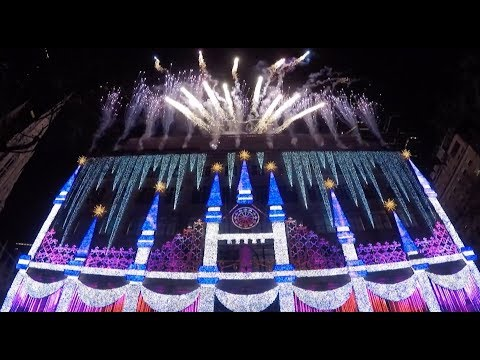 Saks Fifth Avenue Holiday Light Show 2017 debut in New York