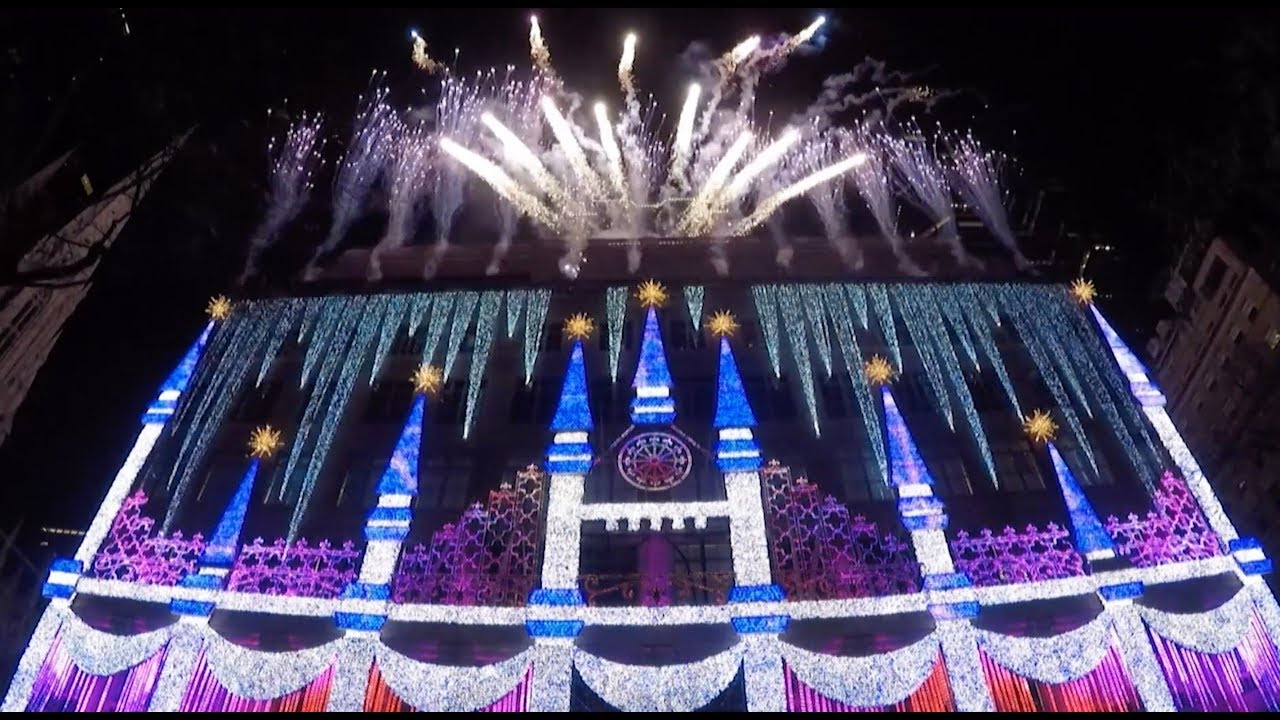 Saks Fifth Avenue Christmas Light Show 2020 Times Saks Fifth Avenue Holiday Light Show 2017 debut in New York   YouTube