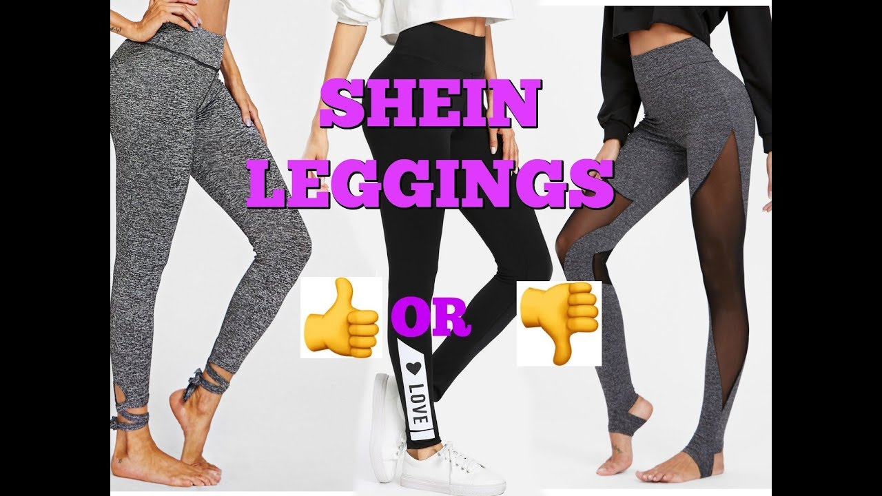 97cc0552a Shein Leggings Try-On Haul + Review - YouTube
