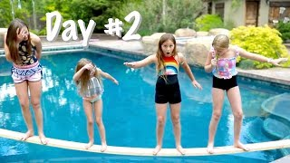 LAST TO FALL IN the POOL WINS! Challenge!! w/the shumway show