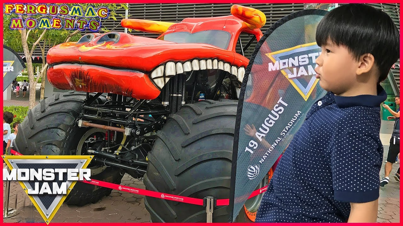 Monster Truck Competition Show At Monster Jam Singapore First