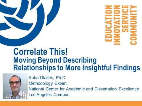 Correlate This! Moving to More Insightful Findings (Kuba Glazek, Ph.D.)