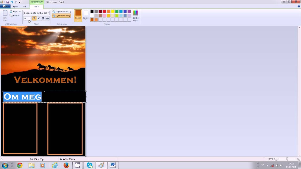 How to make a layout with PAINT for Howrse - YouTube  Layout