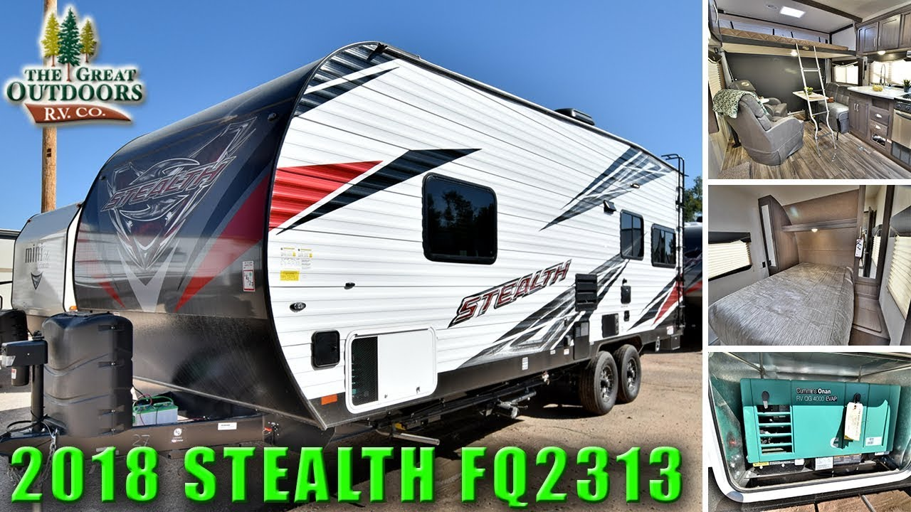 New 2018 Toy Hauler Stealth Fq2313 Bunk Bed Garage Quality Travel
