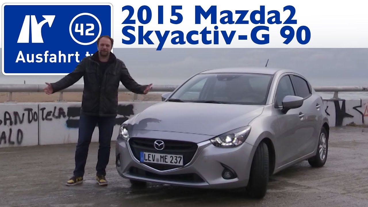 2015 mazda2 skyactiv g 90 exclusive line kaufberatung test review youtube. Black Bedroom Furniture Sets. Home Design Ideas
