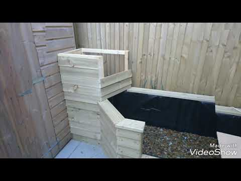 Above ground fish pond build Part 3