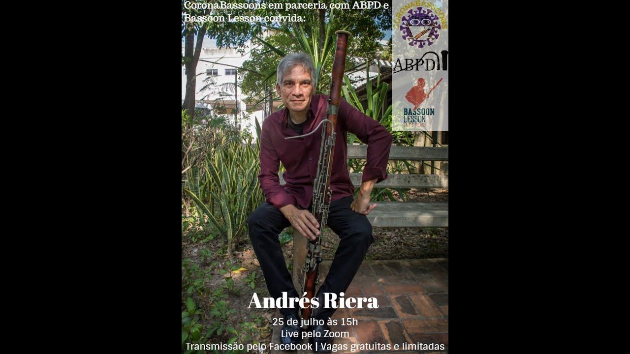 Live com o professor Andrés Riera