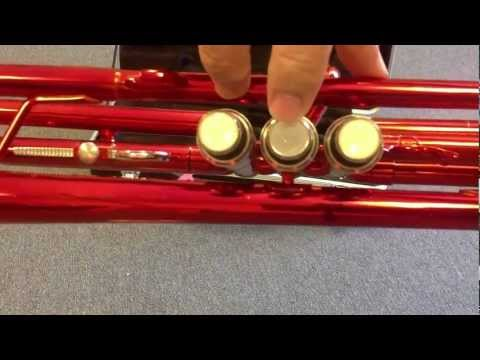 TRUMPET Red Merano Perfect For Beginner Student A Cool Color For Kids