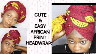 DIY HEADWRAP/TURBAN TUTORIAL (USING AFRICAN PRINT)
