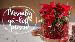 Sista minuten present: Personlig gå-bort-present med julstjärnor