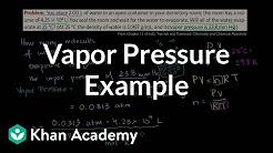 Vapor pressure example | Chemistry | Khan Academy