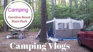 Camping at Carolina Beach, North Carolina | Coleman Tent | Family Vlog