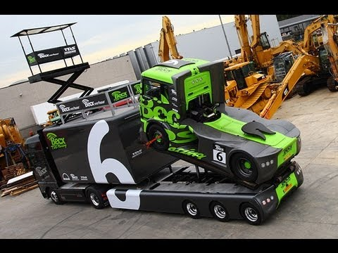 Loading Gymkhana Race truck on Epic trailer