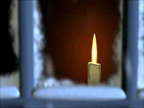 Футаж Свеча на окне
