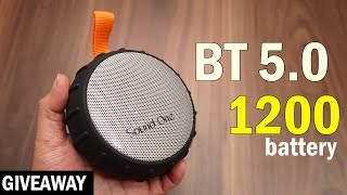 Sound One Shell 5 Watts Portable Bluetooth Speaker with 1200 mAh battery
