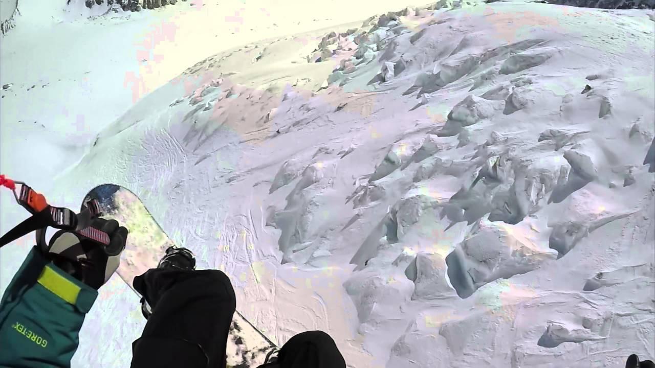 Speedriding snowboard chamonix