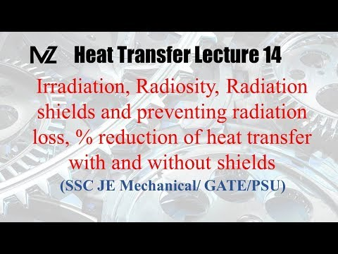 Heat transfer Radiation lecture 14 : Irradiation | Radiosity |  Mechanical GATE | SSC JE
