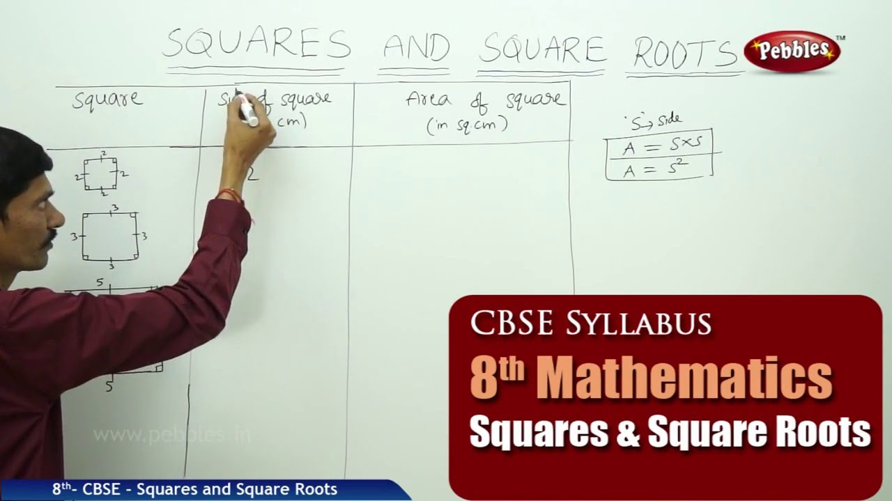 Workbooks worksheets on squares and square roots : Squares and Square Roots | Class 8th Mathematics | NCERT | CBSE ...