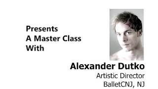 Alexander Dutko of BalletCNJ - ADVANCED BALLET - Ballet En Demand