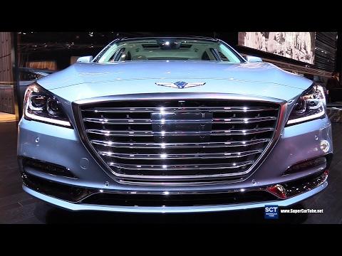 2018 Genesis G80 5.0L HTRAC Exterior and Interior Walkaround 2017 Detroit Auto Show