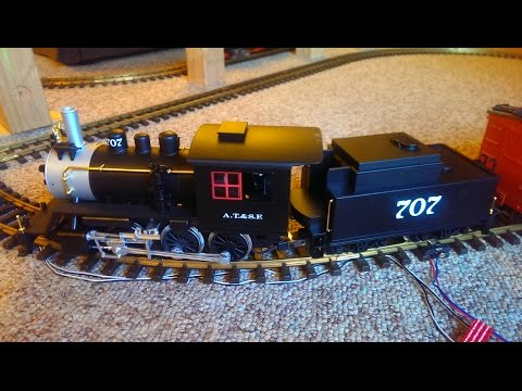 PIKO 38212 AT&SF locomotive with steam train sounds