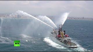 В сирийском порту Тартус прошёл парад кораблей и судов в честь дня ВМФ