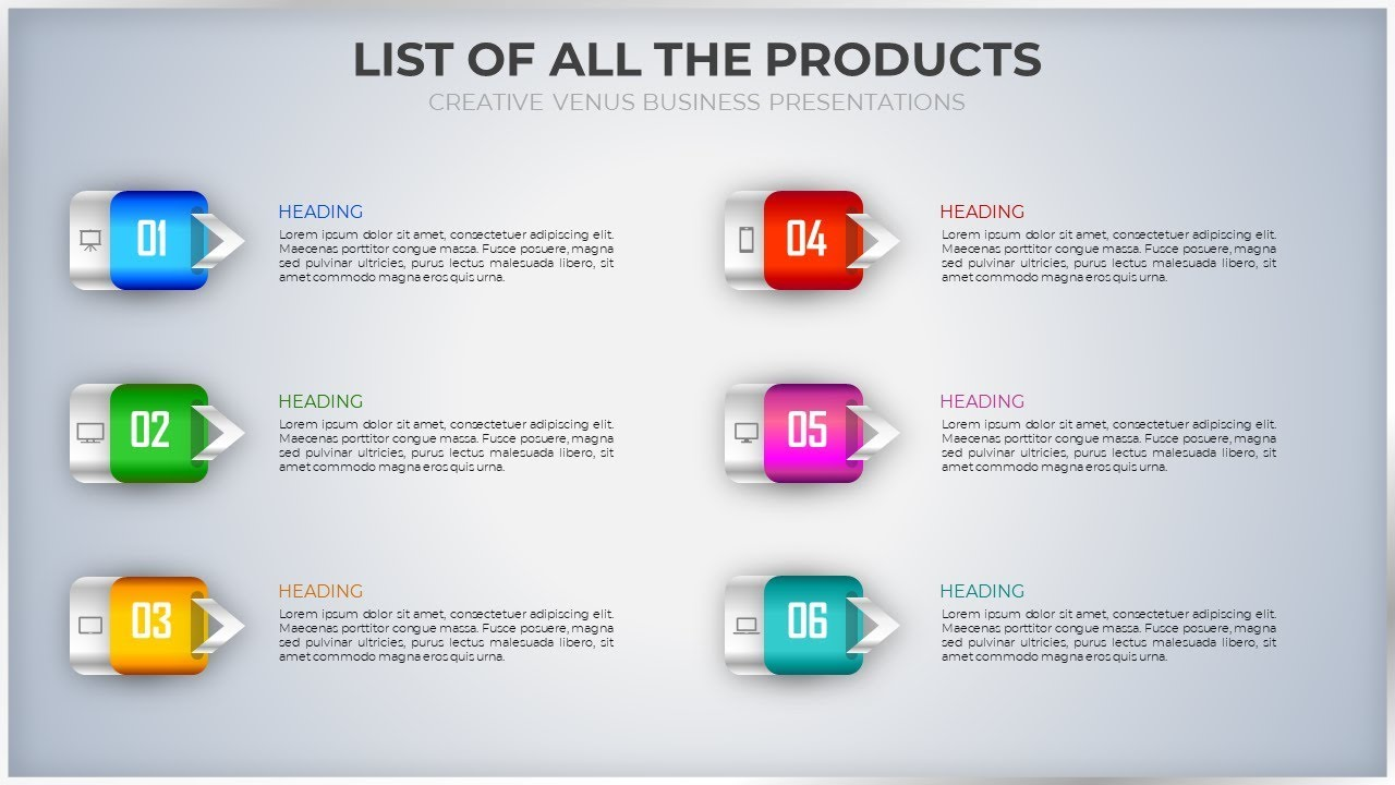 How To Design A Beautiful Infographic Style List Of Items In