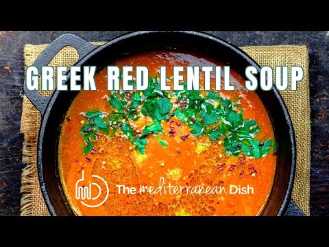 Greek Red Lentil Soup Recipe from The Mediterranean Dish