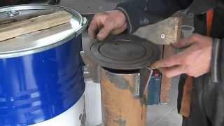 Multipodwórko Poleca. Piec Rakietowy Stalowy. Rocket Stove Part 3/3. DIY.