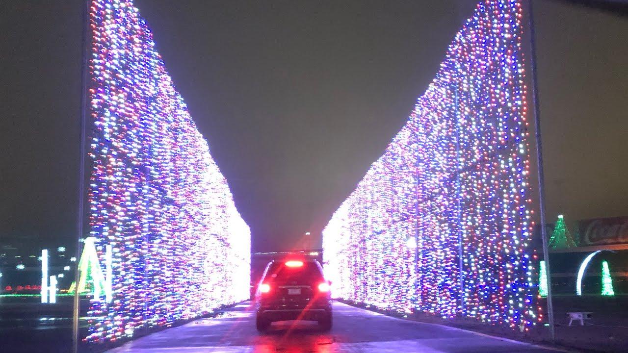 CHRISTMAS LIGHTS 2018 NASCAR TRACK