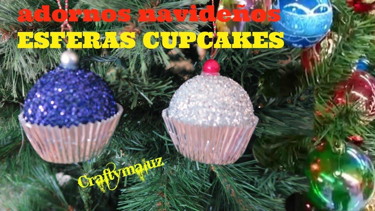 Esferas cupcakes esferas navide as adornos para navidad for Elaboracion de adornos navidenos