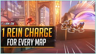 1 REINHARDT CHARGE for EVERY MAP ft. Liam_OW