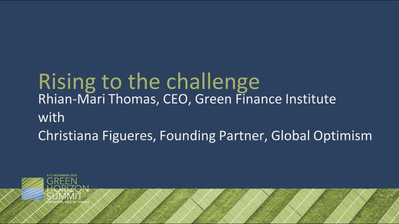 Download Rising to the challenge - Rhian-Mari Thomas and Christiana Figueres #GHS2020