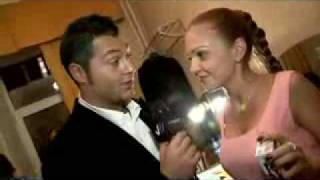 Марина Девятова и Алексей Чумаков за кулисами