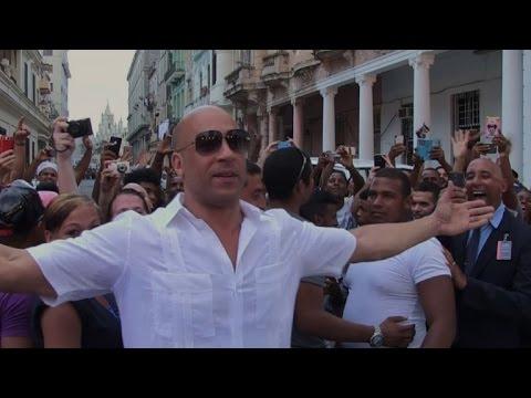Cubans welcome US star Vin Diesel to Havana