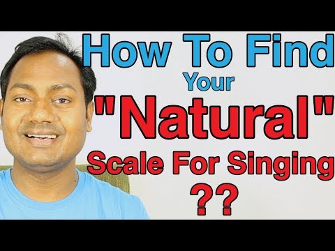"""How To Find Your """"Natural"""" Scale For Singing ? Indian Classical Vocal Lessons Online (Hindi)"""