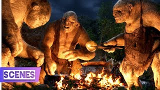 The Hobbit- An Unexpected Journey (5/13) - Trolls Battling Scene | Hindi Dubbed