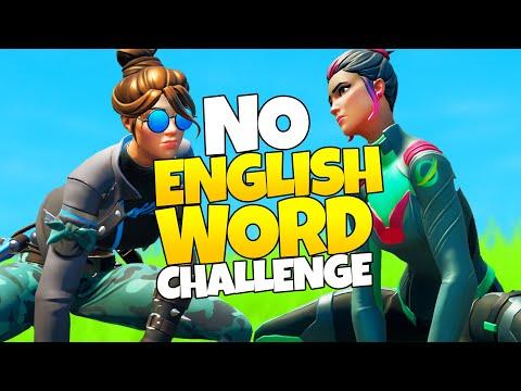 NO ENGLISH WORD CHALLENGE Mit Fixx | Fortnite Battle Royale