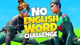 NO ENGLISH WORD CHALLENGE mit Fixx | Fortnite Battle Royale