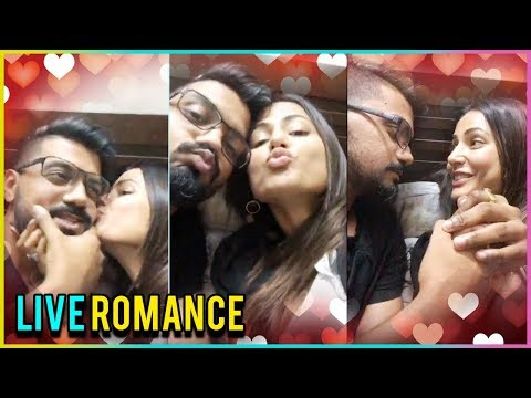 Hina Khan And Rocky Jaiswal KISS During LIVE CHAT | HIRO Romance