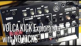 Korg Volca Kick Exploration With No Kicks