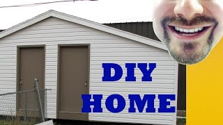 How To Build A Storage Shed In 4 Minutes 10' X 24'