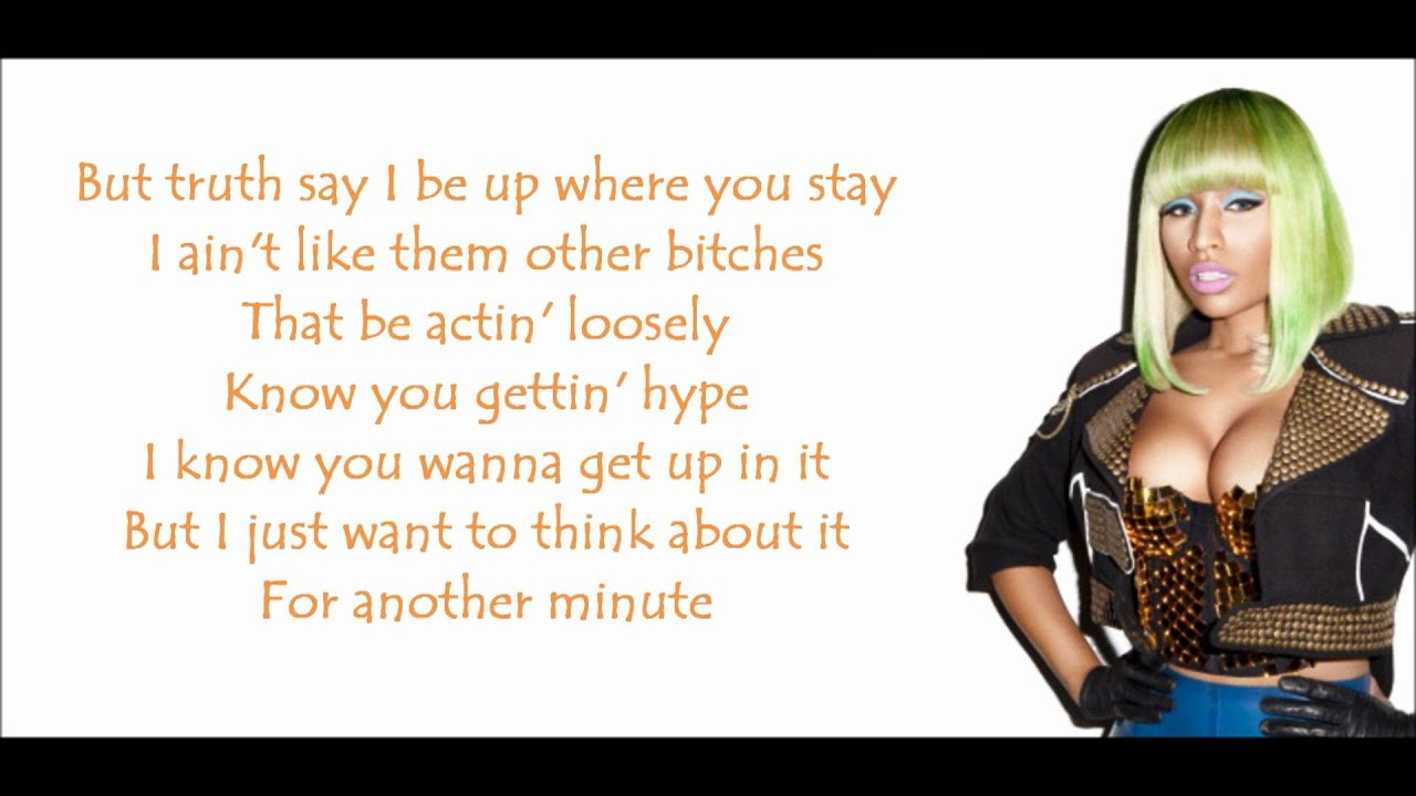 Bad As I Wanna Be Lyrics Bad As I Wanna Be Nicki Minaj Lyrics