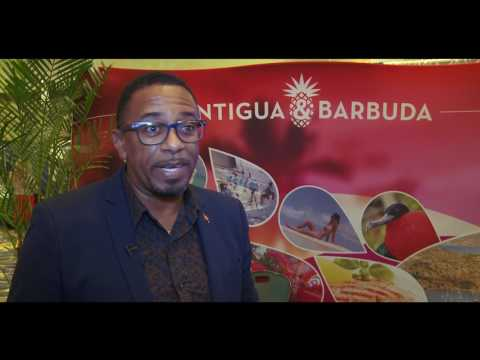 Antigua and Barbuda Tourism Authority CEO Colin James at Caribbean Travel Marketplace,
