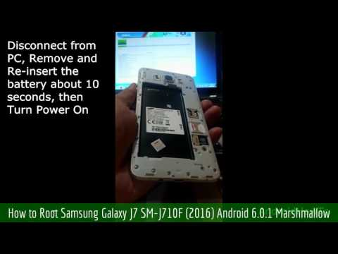 How to Root Samsung Galaxy J7 SM-J710F (2016) Android 6.0.1 Marshmallow