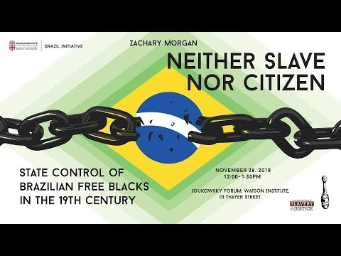 Neither Slave Nor Citizen: State Control Of Brazilian Free Blacks In The 19th Century
