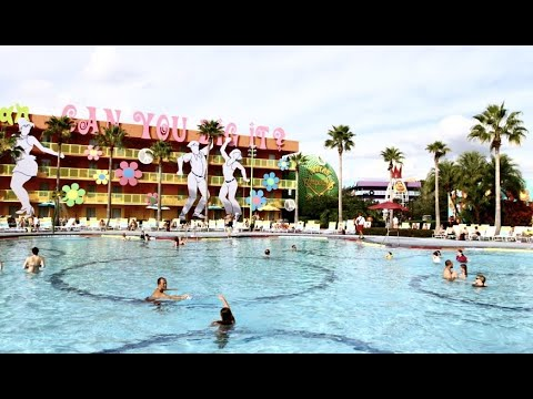Pop Century Water Park Hippy Dippy pool and Computer Pool
