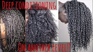 (DIY)Take Deep Conditioning To Another Level! + Mini-Braids Take Down