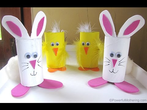 3 Super Easy Easter Bunny DIY Recycled Toilet Paper Roll