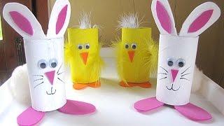 3 Super Easy Easter Bunny DIY | Recycled Toilet Paper Roll Craft | FRISHTA DIY CRAFT